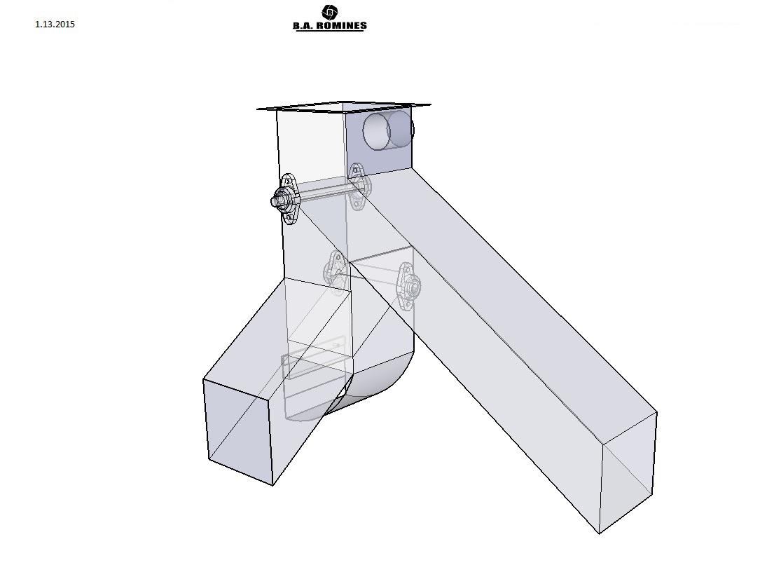 Sheet Metal Chute : Drawings sheet metal fort wayne b a romines